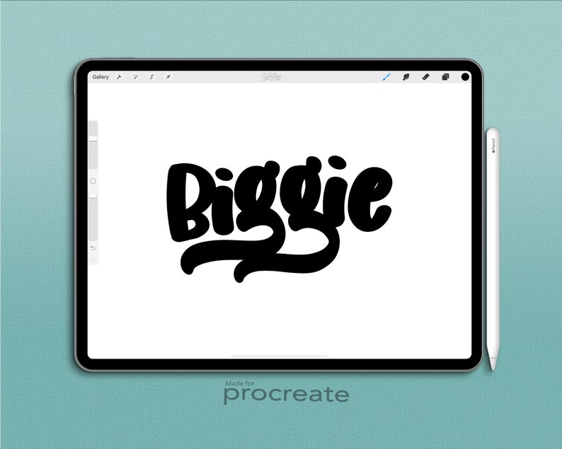 Biggie Brush Procreate Brush, Fat Procreate Brush, Lettering Brush, iPad  lettering, Sign painting procreate , iPad Lettering