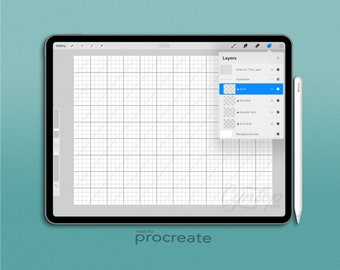 Procreate App Dot and Square Grid file
