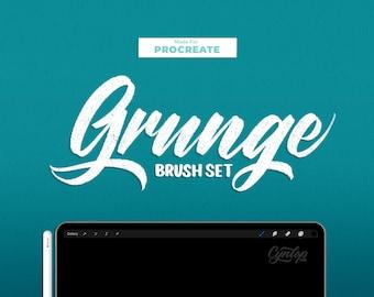 Script Grunge & Thick Procreate Brush