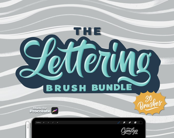 Featured listing image: The Lettering Brush Bundle for Procreate