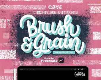 Brush & Grain Procreate Texture Brush Set