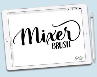 Custom Procreate Brush: Mixer Brush