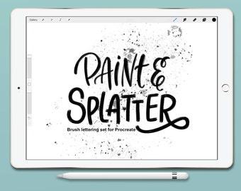 Procreate Brush Pack : Paint & Splatter Set