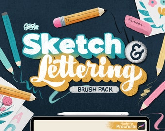 Procreate Sketch & Lettering Pencil Brush Set