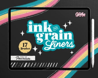 Ink & Grain Liners Brush set for Procreate, 17 Brushes