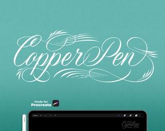 Procreate Brush Copper Pen