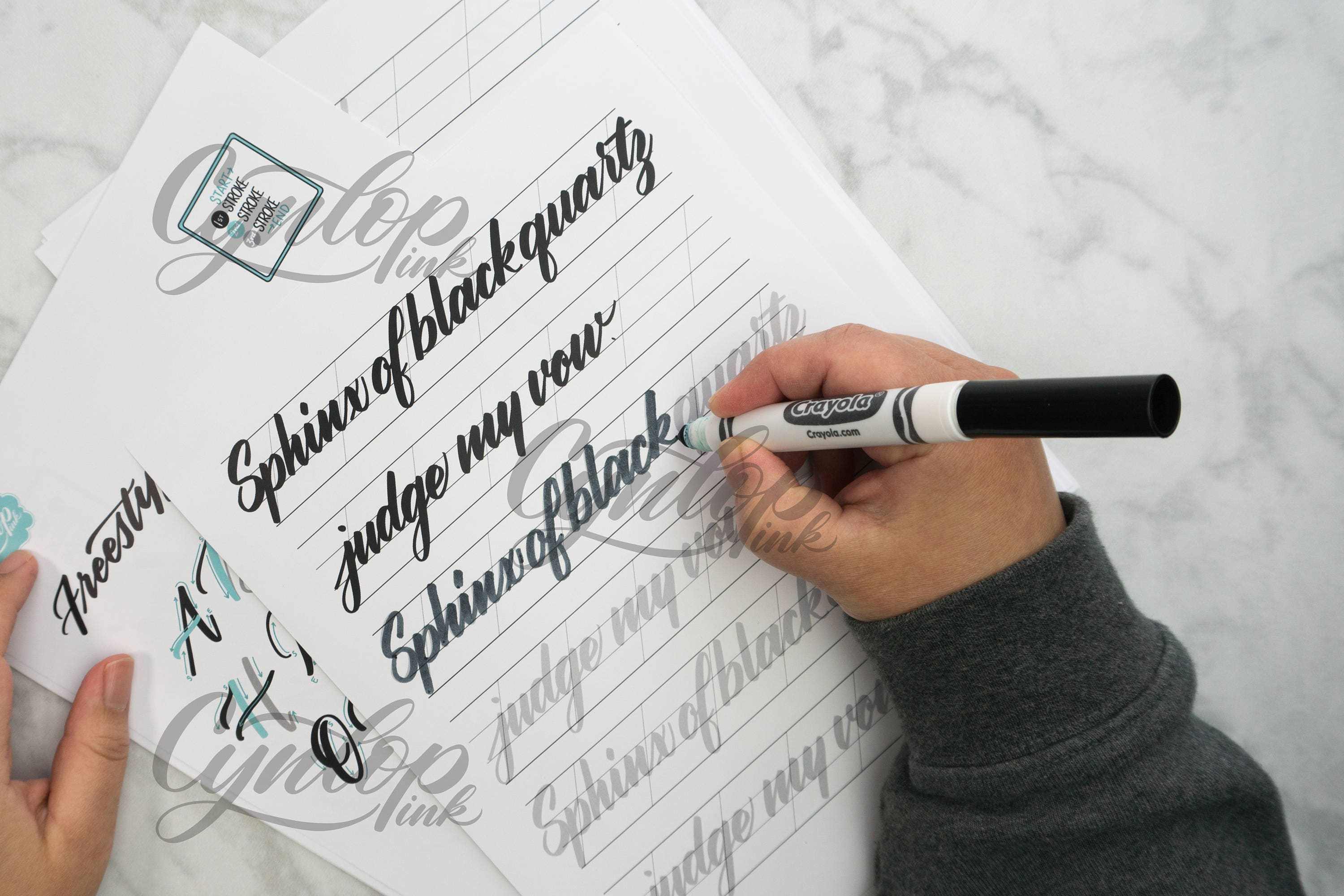 Brush Calligraphy Workbook Freestyle Lettering