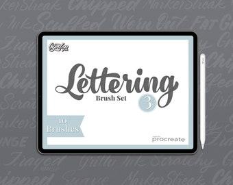 Procreate Lettering Brush Pack #3 10 Brushes