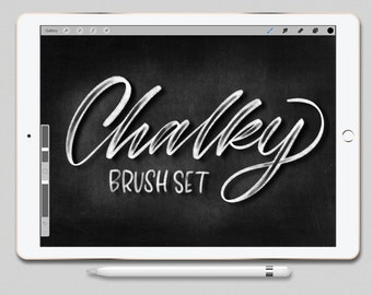 Procreate Brush Set Chalky