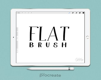 Custom Procreate Brush: Flat tip