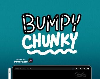 Procreate Bumpy Chunky Brush, 2 brush set