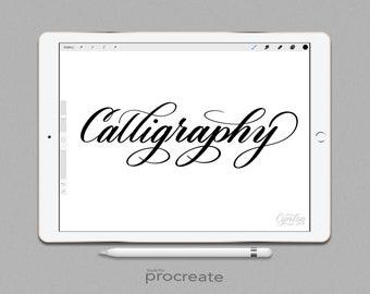 Procreate Brush: Calligraphy