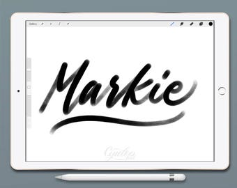 Procreate Brush, Markie ,Procreate Brush, brush lettering, Procreate Brushes, Procreate Brush, Calligraphy, iPad lettering