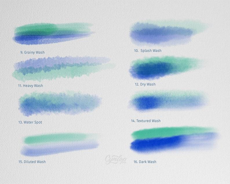 Procreate Brush Set : Procreate Watercolor Brush Set, Watercolor, Brush  Pen, brush lettering,Procreate Brushes, Brush Pack iPad lettering