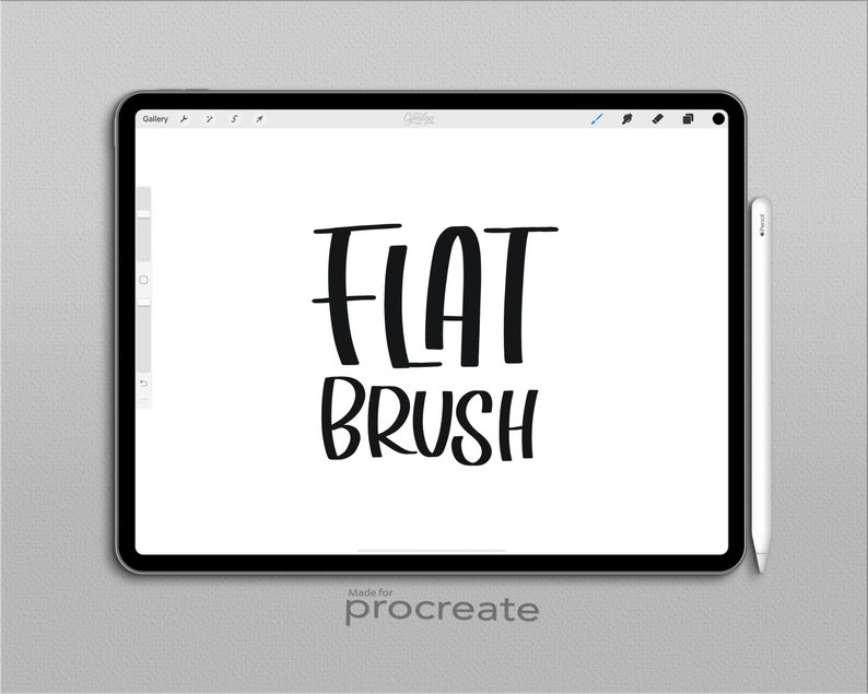 Flat tip Procreate Brush, brush lettering, Procreate Brushes, Procreate  Brush, Serif and sans serif, iPad lettering
