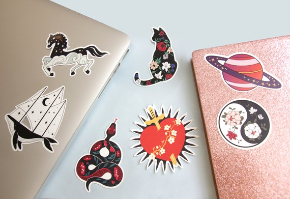 Here Forms and Usages of Stickers Are Illustrated