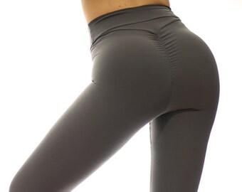 e6272357ed72a Brazilian Butt Scrunch Booty Leggings High Waisted Emana Scrunch Butt Leggings  Yoga Gym Workout Dance Clubbing Socializing Zumbera