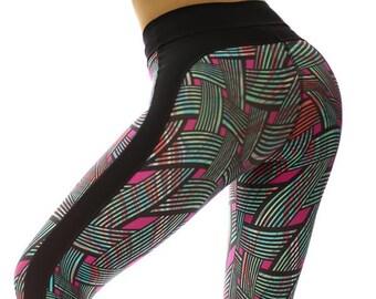 4439793db727c5 High Compression High Waist Leggings Crossline 50% UV Yoga Gym Crossfit  Bodybuilding Pilates Spinning Dance Zumbera Xco Latin Workout Dance