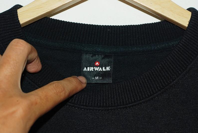 Vintage Airwalk Spellout Logo Crewneck Sweatshirts Skate Powell Hip Hop 90s