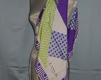 Authentic vintage Lanvin Paris scarf - silk f90693c173a