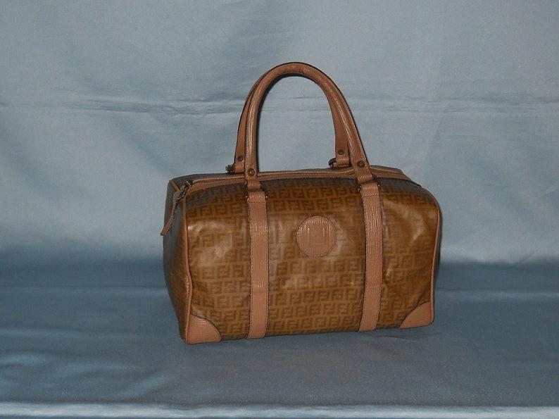 146a15254bf6 Authentic vintage Fendi handbag canvas and genuine leather