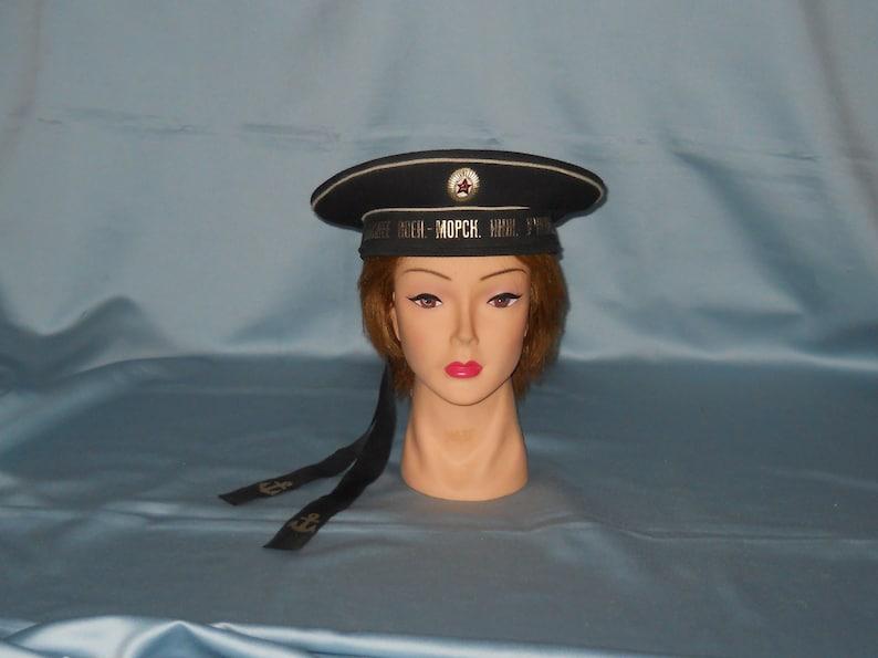 d8f1413571370 Soviet Navy Sailor Cap Higher Naval Engineering School