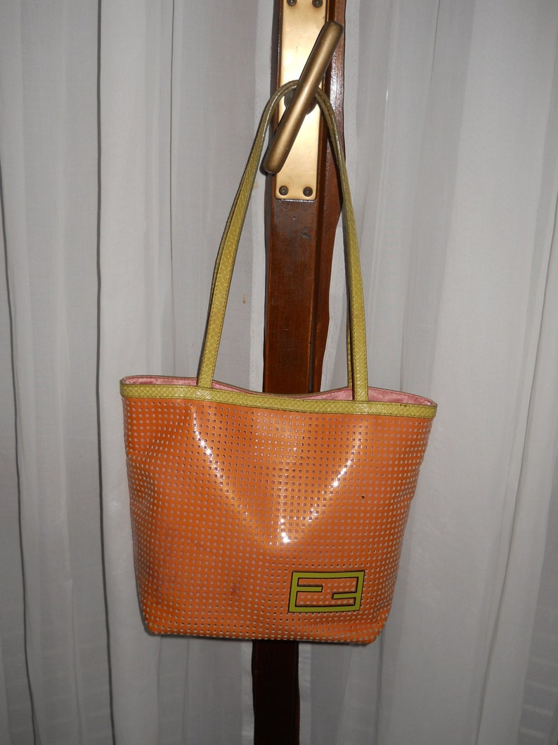 a1eadc5533 Authentic Fendi bag Vintage Made in Italy   Etsy