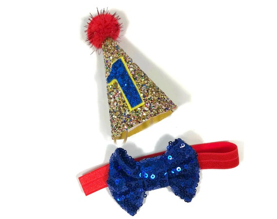 Dog Birthday Hat and Bow Tie || Dog Gift || Pet Birthday Party Outfit || Pet Puppy Cat Kitten || Kitty Pig Birthday Crown |
