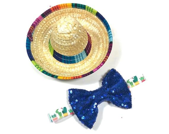 Dog Sombrero || Mini Sombrero || Dog Hat || Straw Hat || Mini Sombrero ||  Fiesta Party || Fiesta Hat