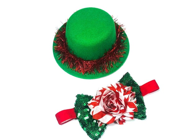 Christmas Party Top Hat|| Christmas Hat || Dog Crown || Dog Hat || Holiday Pet Accessory