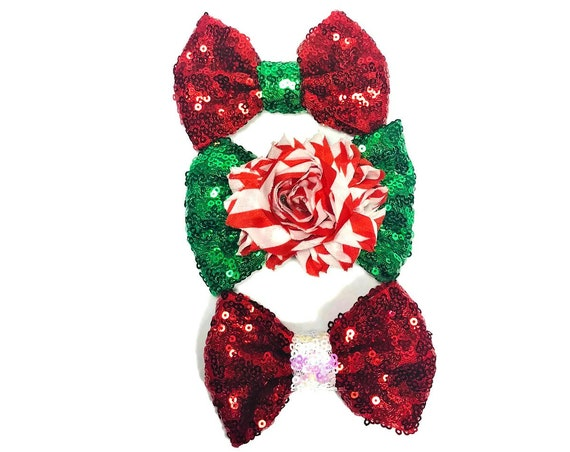 Christmas Bow Tie || Dog Christmas Bow || Peppermint || Christmas Puppy || Pet Christmas Gift