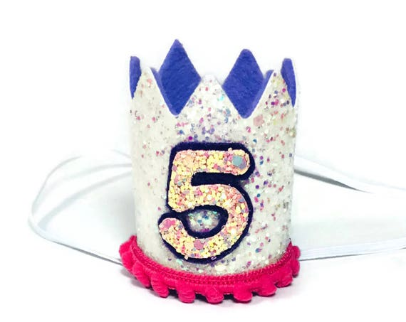 5th Birthday Crown || Any Age || Dog Birthday Hat || Pet Party || Birthday Crown