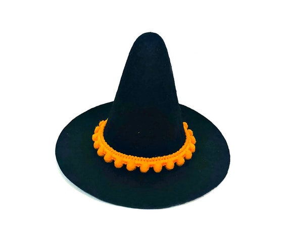 Mini Witch Hat || Witch Wizard Hat || Dog Witch Costume || Dog Halloween Costume