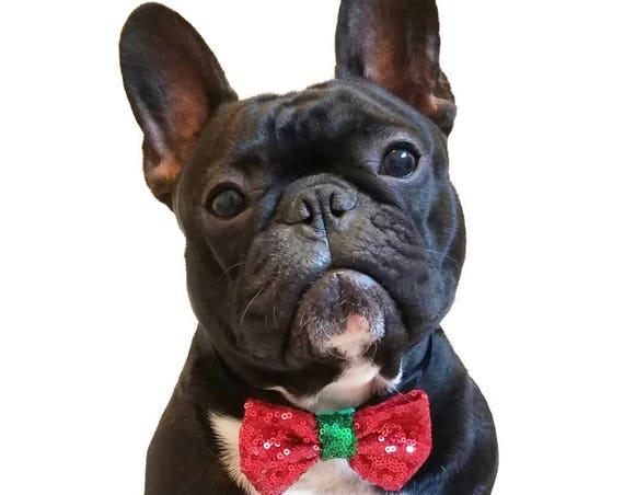 Christmas Bow Tie || Dog Christmas Bow || Christmas Puppy || Pet Christmas Gift