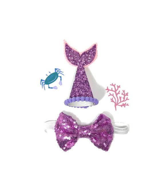 Dog Mermaid Costume || Dog Mermaid Hat || Dog Birthday Party Hat || Pet Party Decor || Animal Party Hat || Dog Gift || Dog Clothes