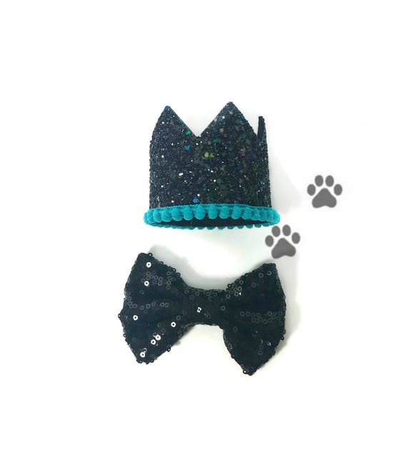 Dog Bow Tie ||  Dog Birthday Party || Dog Birthday Crown || Dog Costume || Pet Party || Dalmation
