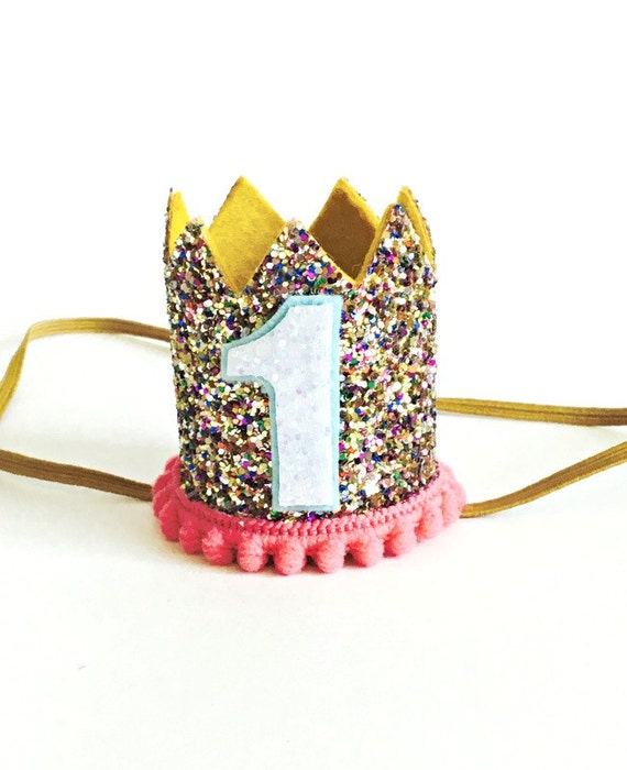 672d3167497 Dog Crown Gold Glitter Pink Animal Party Birthday Party Photo