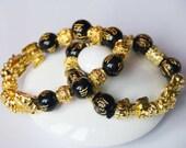 Black Obsidian Bracelet Feng Shui Bracelet Meditation Bracelet Protection Bracelet Luck Bracelet Energy Jewelry Protection Wealth Jewelry