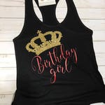 Birthday Girl, Tanks, Specialty Shirts Crown Tanks