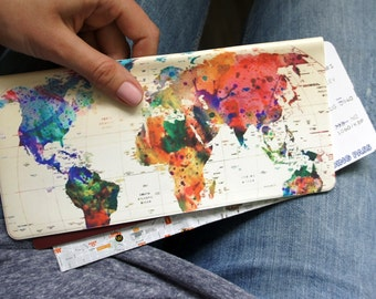 Travel organizer - colored world map