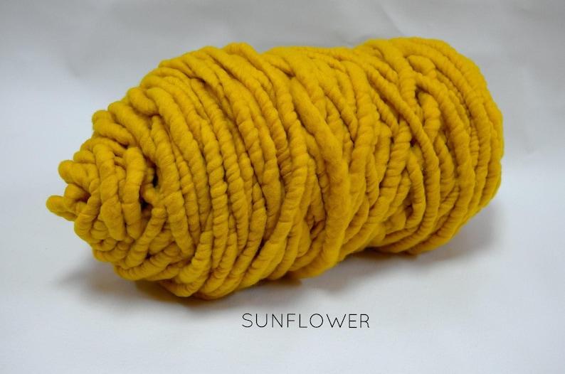 super chunky Big Loop Merino Yarn giant chunky knit Loopy Mango Super Chunky arm knitting Sunflower