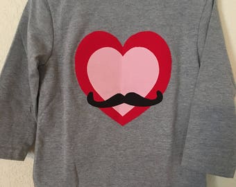 Toddler Heart/Mustache T-shirt