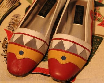 L.J. Simone Multi-Color Leather Flats
