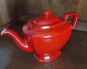 Hall 39 s Teapot Vintage Red Teapot 214 Mid-Century Red Retro Stoneware Teapot