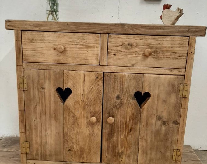 Handmade sideboard washstand kitchen unit storage rustic cabinet cupboard dresser