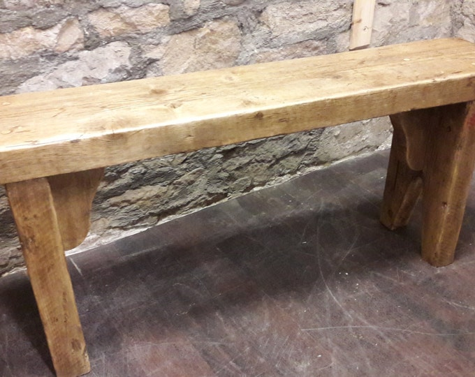 rustic wooden bench reclaimed wood vintage handmade industrial