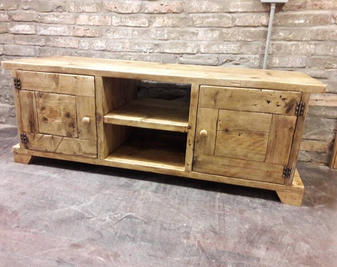 Handmade TV stand media unit wooden storage hall storage cabinet sideboard