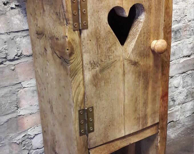 Handmade bedside table side table nightstand reclaimed wood scaffold board rustic industrial