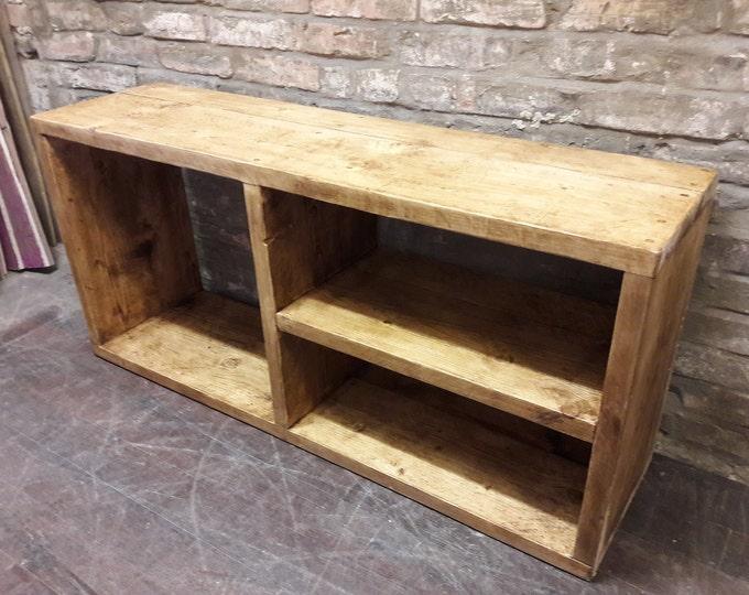 Hallway shoe rack storage shelving handmade industrial reclaimed wood