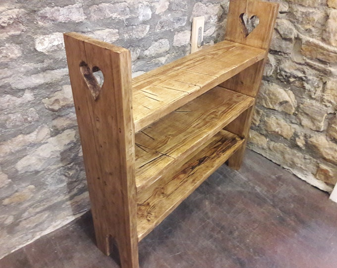 Wooden shoe rack stand hall storage rustic